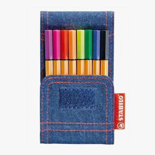 Stabilo Point 88 Mini Jeans Edition 8'li Fineliner Set 688/8-06 5403