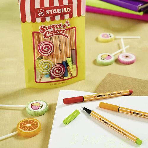 Stabilo Point 88 Mini Sweet Colors 15'li Fineliner Set 688/15-051 0321