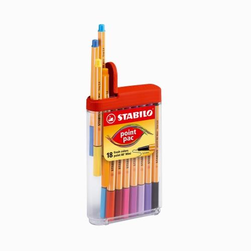 Stabilo Point Pac 88 Mini 18'li Fineliner Set 688/18-03 6122