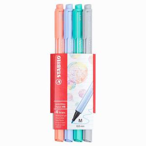Stabilo - Stabilo pointMax Pastel 4'lü 0.8 mm Keçeli Kalem Seti