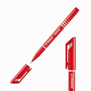 Stabilo - Stabilo Sensor Yaylı Uç Fineliner 0.3 mm Kırmızı 189/40 4172