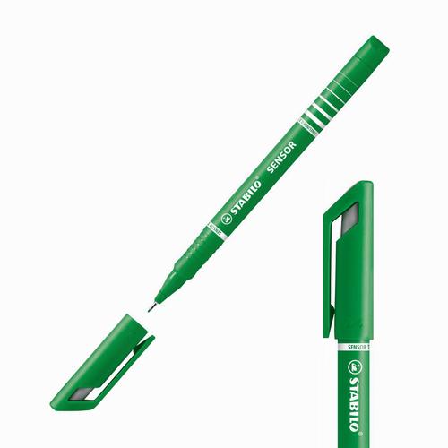 Stabilo Sensor Yaylı Uç Fineliner 0.3 mm Koyu Yeşil 189/36 4165