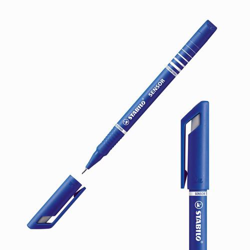 Stabilo Sensor Yaylı Uç Fineliner 0.3 mm Mavi 189/41 4189