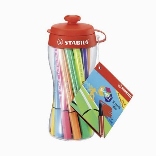 Stabilo Sporty Colors Pen 68 Mini 18'li Keçeli Kalem Seti 668/18-04 5352