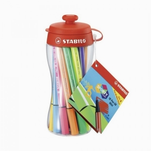 Stabilo - Stabilo Sporty Colors Pen 68 Mini 18'li Keçeli Kalem Seti 668/18-04 5352