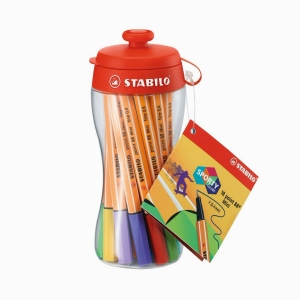 Stabilo - Stabilo Sporty Colors Point 88 Mini 18'li Fineliner Kalem Seti 688/18-04 5338