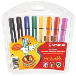 Stabilo - Stabilo Trio Scribbi Yaylı Uçlu 8 Renk 3626