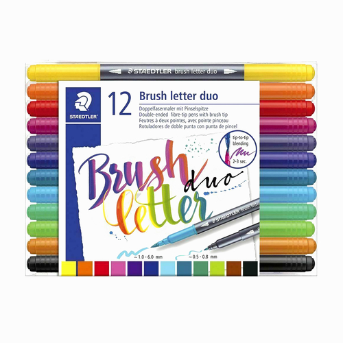 Staedtler 12 Renk Çift Taraflı Brush Kalem Seti 2854