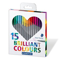 Staedtler - Staedtler Brillant Colours Triplus 15'li