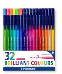 Staedtler - Staedtler Brillant Colours Triplus Color 32'li Set