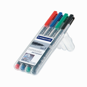 Staedtler Lumocolor 4 Renk non-permanent 0.6mm Fine Keçeli Kalem Seti 4549 - Thumbnail