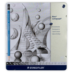 Staedtler - Staedtler Mars Lumograph 20'li Metal Kutulu Çizim Kalemleri