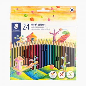 Staedtler - Staedtler Noris Colour Wopex 24'lü Kuru Boya Seti 185 C24 9215