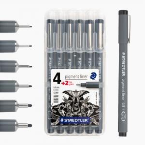 Staedtler - Staedtler Pigment Liner 6'lı Çizim Kalemi Seti 308 SB6P 8356