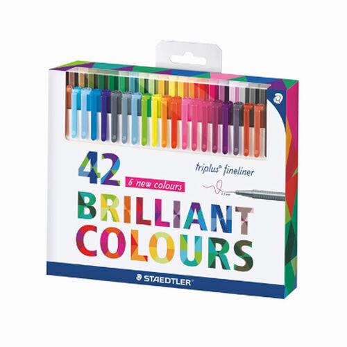 Staedtler Triplus Brilliant Colours 0.3mm 42'li Fineliner Set 9054