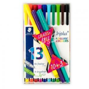 Staedtler - Staedtler Triplus Brilliant Colours 10+3