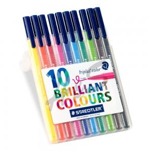 Staedtler - Staedtler Triplus Color Brilliant Colours 10'lu Set 1.0 mm 323 SB10 3175