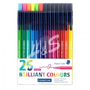 Staedtler - Staedtler Triplus Color Brilliant Colours 26'lı Set 1.0 mm