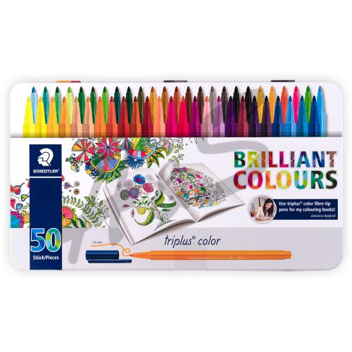 Staedtler Triplus Color Brilliant Colours 50'li Set 1.0mm Metal Kutu 0128