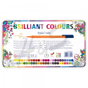Staedtler Triplus Color Brilliant Colours 50'li Set 1.0mm Metal Kutu 0128 - Thumbnail