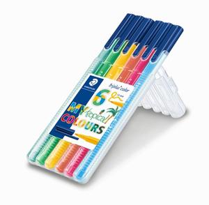 Staedtler - Staedtler Triplus Color My Tropical Colours 6'lı Set 1.0 mm 323 SB6CS4 9977