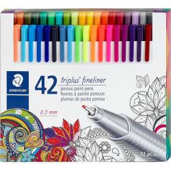 Staedtler - Staedtler Triplus Fineliner Brillant 42'li