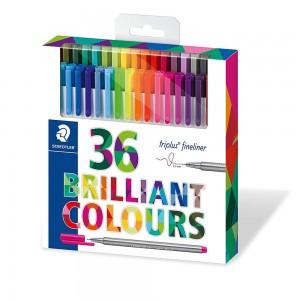 Staedtler - Staedtler Triplus Fineliner Brilliant Colours 36'lı Set