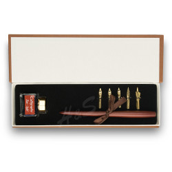 Steelpen - STEELPEN Calligraphy CS-501 Ahşap Kalem Yazı Seti