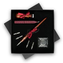 Steelpen - STEELPEN Calligraphy SK-290 Ahşap Kalem ve Mühürlü Kristal Set