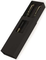 Steelpen - Steelpen Pearl Gold-Siyah Dolma Kalem-Tükenmez Kalem Set