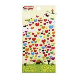 Bigpoint - Sticker Multi Color Hearts