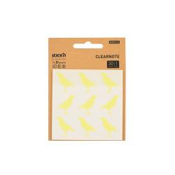 Stickn - Stickn Desenli Şeffaf Yapişkanlı Not Kağıdı Kuşlu 28035