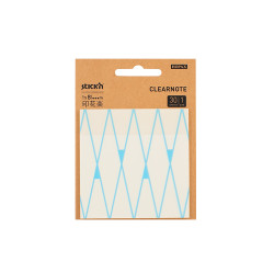 Stickn - Stickn Desenli Şeffaf Yapişkanlı Not Kağıdı Mavi 28034