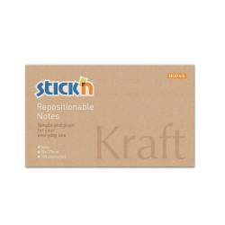 Stickn - Stickn Kraft Yapışkanlı Not Kağıdı 21640