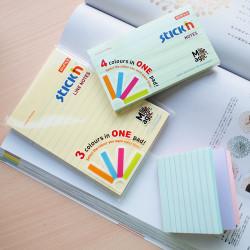 Stickn - Stickn Magic 4'lü Pastel Dikdörtgen Yapışkanlı Not Kağıdı 21578 (1)