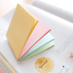 Stickn - Stickn Magic 4'lü Pastel Yapışkanlı Not Kağıdı 21574 (1)