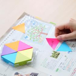 Stickn - Stickn Puzzle Blocks 6'lı Üçgen Yapışkanlı Not Kağıdı (1)