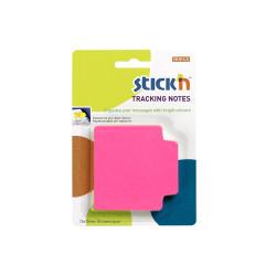Stickn - Stickn Tracking Yapışkanlı Not Kağıdı Pembe 21481