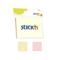 Stickn - Stickn Yapışkanlı Not Kağıdı 2'li Pastel Renkler