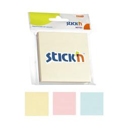 Stickn - Stickn Yapışkanlı Not Kağıdı 3'lü Pastel Renkler
