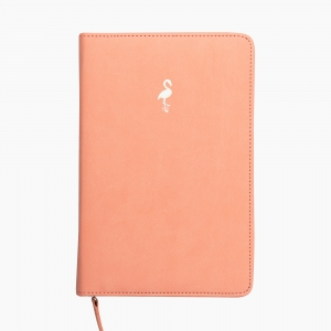 Syloon - Syloon A5 Flamingo Logolu Fermuarlı Organizer Defter 8849