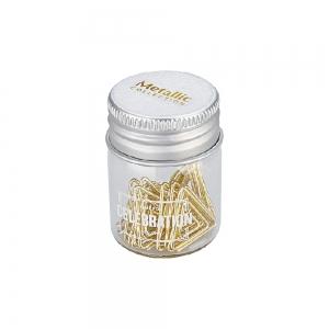 Syloon - Syloon Cam Kavanoz Gold Üçgen Ataş 8382