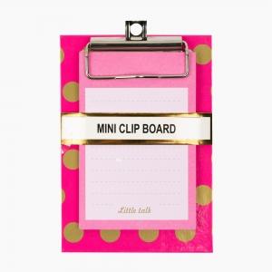 Syloon - Syloon A6 Mini Clip Board Notluklu Pembe 8993