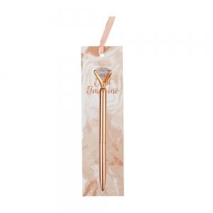 Syloon - Syloon Rose Gold Tükenmez Kalem Elmas 8689