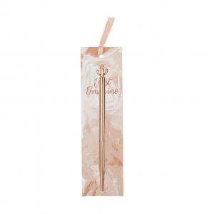 Syloon - Syloon Rose Gold Tükenmez Kalem Kaktüs 8658