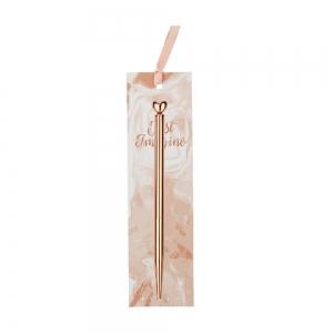 Syloon - Syloon Rose Gold Tükenmez Kalem Kalp 8665