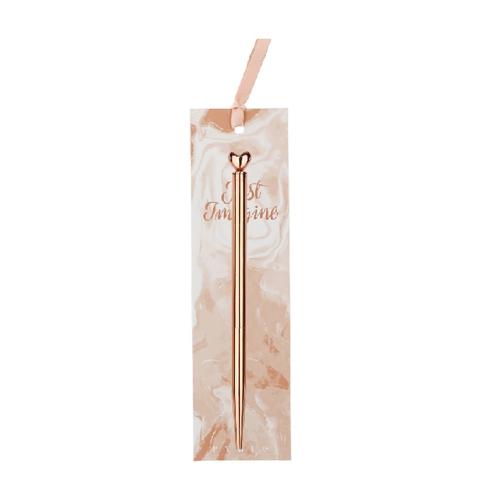 Syloon Rose Gold Tükenmez Kalem Kalp 8665