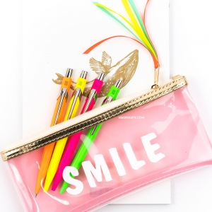 Syloon Smile Şeffaf Kalem Çantası 7750 - Thumbnail