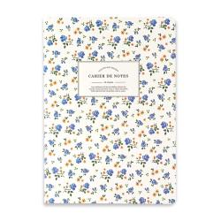 Diğerleri - Taros Flowers Vintage Label Beyaz-Kırmızı 18x25 cm Çizgili Defter