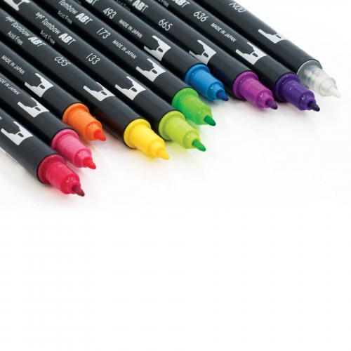 Tombow Dual Brush 10'lu Set Bright Palette